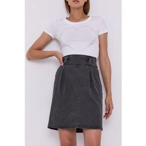Love Moschino - Rifľová sukňa vyobraziť