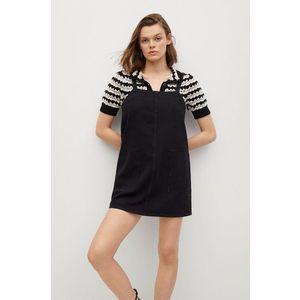 Mango - Rifľové šaty Lexia vyobraziť