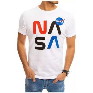 Biele tričko s potlačou nasa vyobraziť
