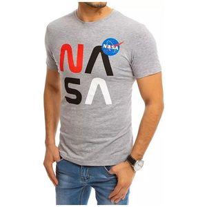 sivé tričko s potlačou nasa vyobraziť