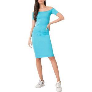 Svetlo modré dámske priliehavé šaty vyobraziť