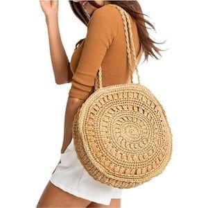 Béžová pletená plážová taška vyobraziť