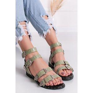 Mätové vybíjané nízke sandále Arole vyobraziť