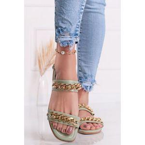 Mätové nízke sandále Roana vyobraziť