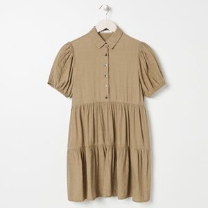 Sinsay - Košeľové šaty - Zelená vyobraziť