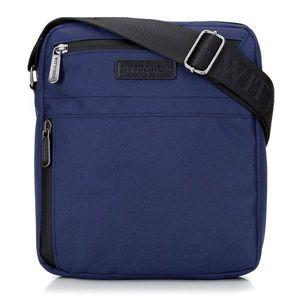 Trendová modrá crossbody taška pre pánov vyobraziť
