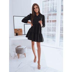 Dámske čierne šaty SALLENTA v štýlovom prevedení. vyobraziť
