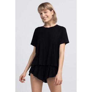 Čierny pyžamový top LA044 vyobraziť
