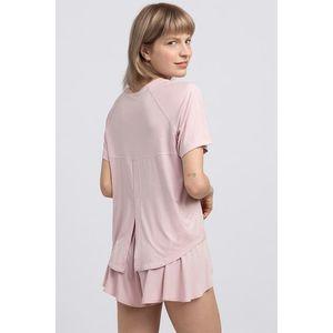 Svetloružový pyžamový top LA044 vyobraziť