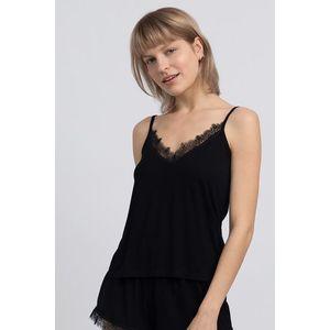 Čierny pyžamový top LA048 vyobraziť