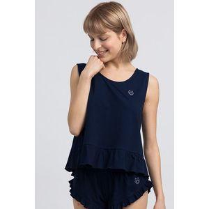 Tmavomodrý pyžamový top LA052 vyobraziť