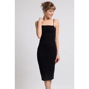 Čierne midi šaty vyobraziť