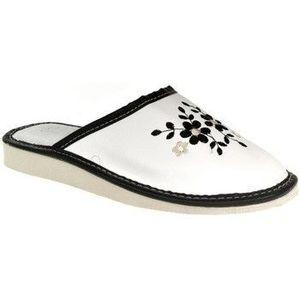 Papuče John-C Dámske bielo-čierne papuče MALVINA vyobraziť