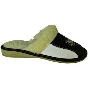 Papuče John-C Dámske bielo-čierne papuče ANTONIA vyobraziť