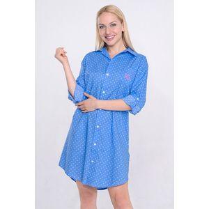 Dámska nočná košeľa Ralph Lauren Blue Dot vyobraziť