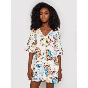 Desigual Letné šaty Lombok 21SWMW06 Biela Relaxed Fit vyobraziť