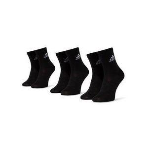 adidas Súprava 3 párov kotníkových ponožiek unisex Light Crew 3pp DZ9394 Čierna vyobraziť