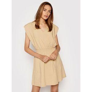 Rinascimento Letné šaty CFC0103488003 Béžová Regular Fit vyobraziť
