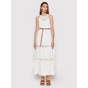 Rinascimento Letné šaty CFC0103508003 Biela Regular Fit vyobraziť