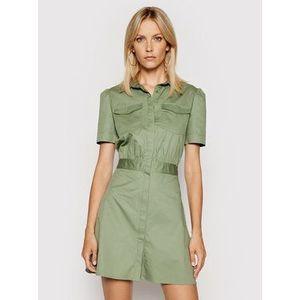 Guess Košeľové šaty W1GK0O WDXM0 Zelená Regular Fit vyobraziť