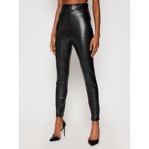 Guess Nohavice z imitácie kože Priscilla W1RB25 WBG60 Čierna Slim Fit vyobraziť