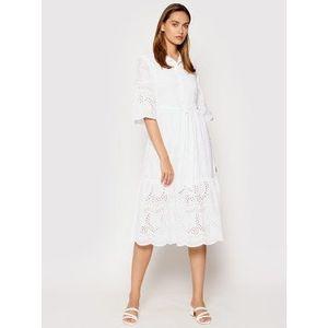 Rinascimento Letné šaty CFC0104521003 Biela Regular Fit vyobraziť