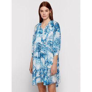 Boss Letné šaty Difloru 50454550 Modrá Oversize vyobraziť
