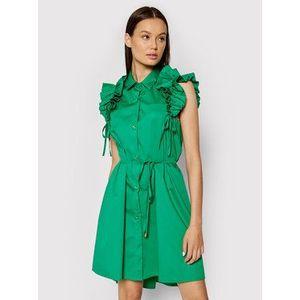 Rinascimento Košeľové šaty CFC0017910002 Zelená Regular Fit vyobraziť