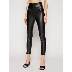 Guess Nohavice z imitácie kože W1GB00 WBG60 Čierna Slim Fit vyobraziť