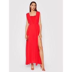 Rinascimento Večerné šaty CFC0103699003 Červená Regular Fit vyobraziť