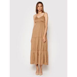 Rinascimento Letné šaty CFC0017921002 Hnedá Relaxed Fit vyobraziť