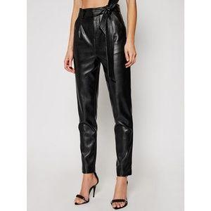 Morgan Nohavice z imitácie kože 211-POPSY Čierna Regular Fit vyobraziť