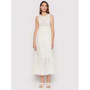 Rinascimento Letné šaty CFC0103535003 Biela Regular Fit vyobraziť