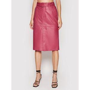 Custommade Kožená sukňa Rinora 212418902 Ružová Regular Fit vyobraziť