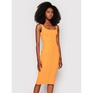 Guess Letné šaty Lana W1YK08 R2BF4 Oranžová Slim Fit vyobraziť