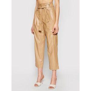 TwinSet Nohavice z imitácie kože 211TT2024 Hnedá Relaxed Fit vyobraziť