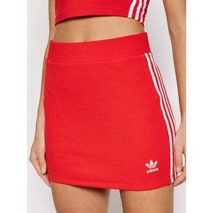 adidas Puzdrová sukňa adicolor Classics H38760 Červená Fitted Fit vyobraziť