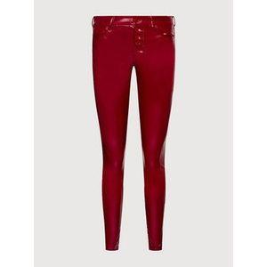 Guess Nohavice z imitácie kože 1981 W1YA28 WE0X0 Bordová Skinny Fit vyobraziť