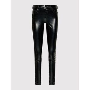 Guess Nohavice z imitácie kože 1981 W1YA28 WE0X0 Čierna Skinny Fit vyobraziť