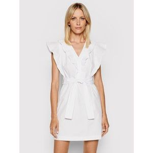 Rinascimento Letné šaty CFC0103605003 Biela Slim Fit vyobraziť
