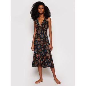 Desigual Letné šaty Santorini 21SWMW23 Čierna Regular Fit vyobraziť