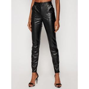 Armani Exchange Nohavice z imitácie kože 3KYP19 YNVAZ 1200 Čierna Slim Fit vyobraziť