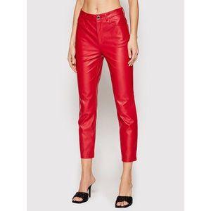Pinko Nohavice z imitácie kože Susan 14 PE 21 BLK01 1G15ZV 7105 Červená Slim Fit vyobraziť
