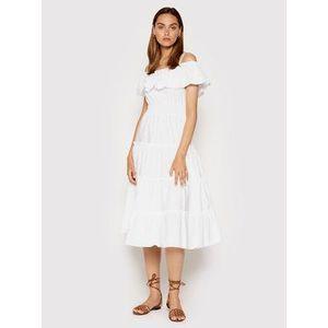 Rinascimento Letné šaty CFC0103583003 Biela Regular Fit vyobraziť