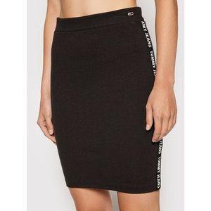 Tommy Jeans Puzdrová sukňa Tjw Bodycon DW0DW10573 Čierna Slim Fit vyobraziť
