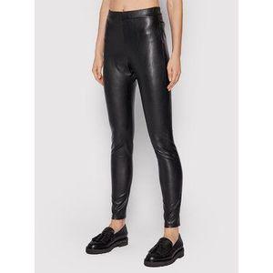 Max Mara Leisure Nohavice z imitácie kože Ranghi 37860616 Čierna Slim Fit vyobraziť