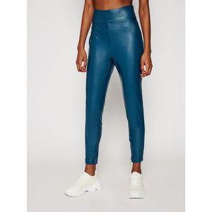 Guess Nohavice z imitácie kože Priscilla W1RB25 WBG60 Modrá Slim Fit vyobraziť