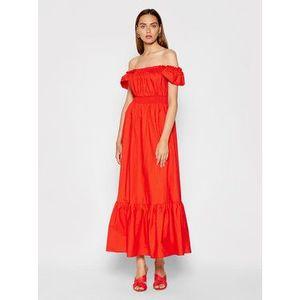 Rinascimento Letné šaty CFC0103666003 Červená Regular Fit vyobraziť