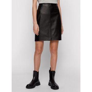 Boss Kožená sukňa Selua_Vd 50452507 Čierna Regular Fit vyobraziť