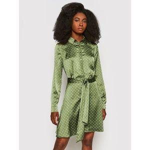 Guess Košeľové šaty Agata W1YK0X WD8G0 Zelená Regular Fit vyobraziť